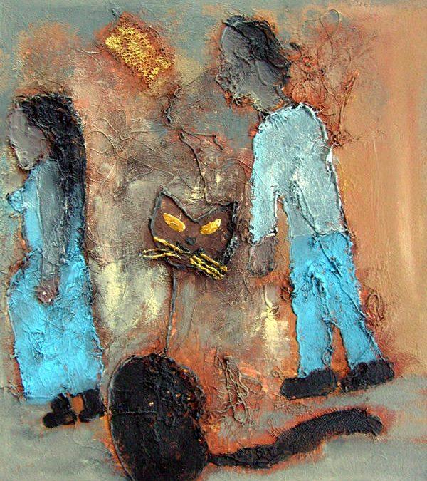 Chat et ses maîtres
